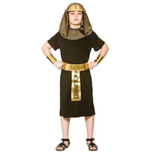 Childrens Boys Egyptian King Costume for Ancient Pharaoh Egypt Fancy Dress